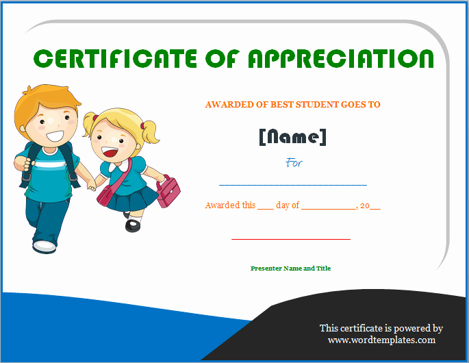 Awards and Certificates for Students Awesome Best Students Award Certificate Of Appreciation