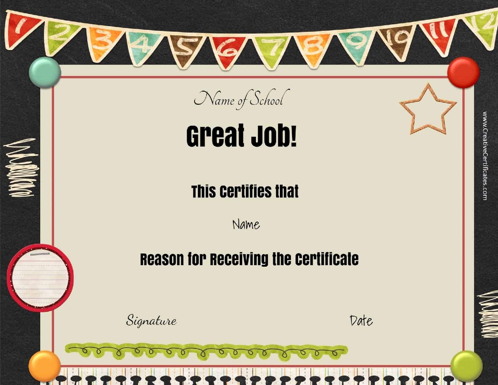 Awards and Certificates for Students Beautiful Free School Certificates & Awards
