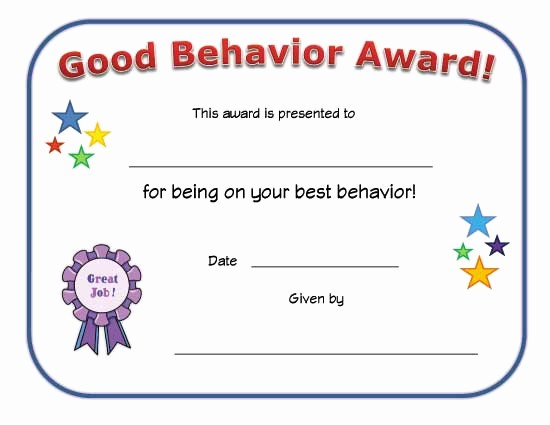 Awards and Certificates for Students Beautiful Strategies for De Escalation & Prevention Of Disruptive