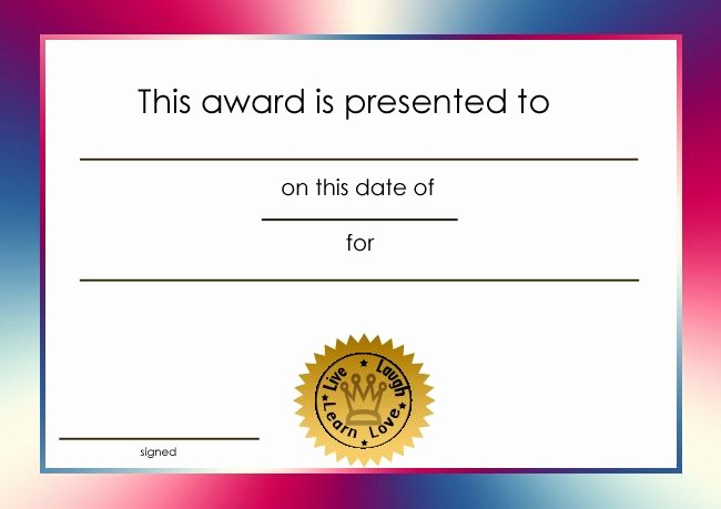 Awards and Certificates for Students Beautiful Student Certificate Awards Printable