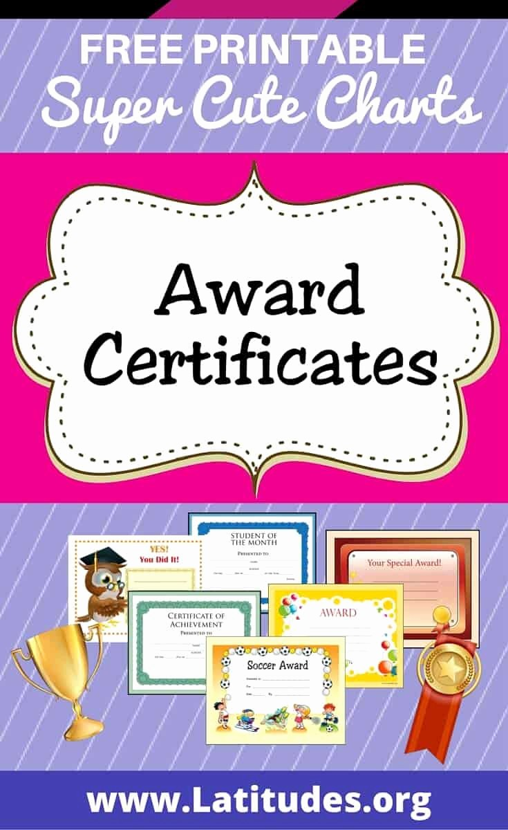 Awards and Certificates for Students Best Of Free Printable Award Certificates for Kids