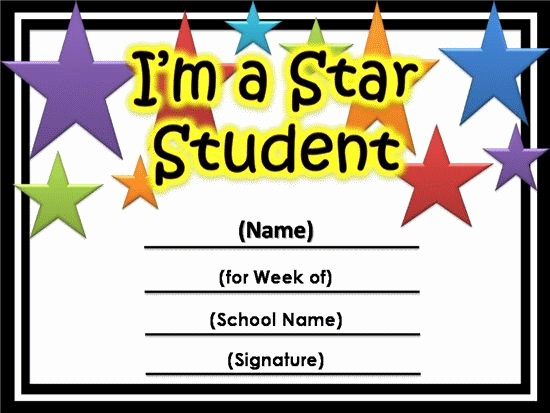 Awards and Certificates for Students Best Of Free Star Awards