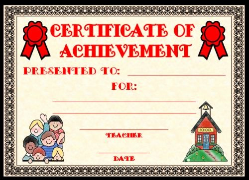 Awards and Certificates for Students Elegant Achievement Award Certificates