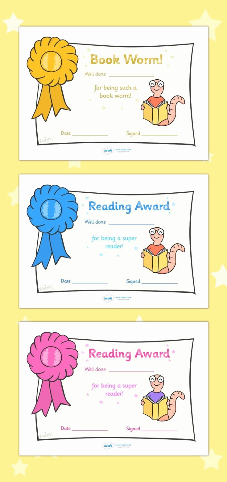 Awards and Certificates for Students Fresh Free Printable Editable Reading Award Certificates