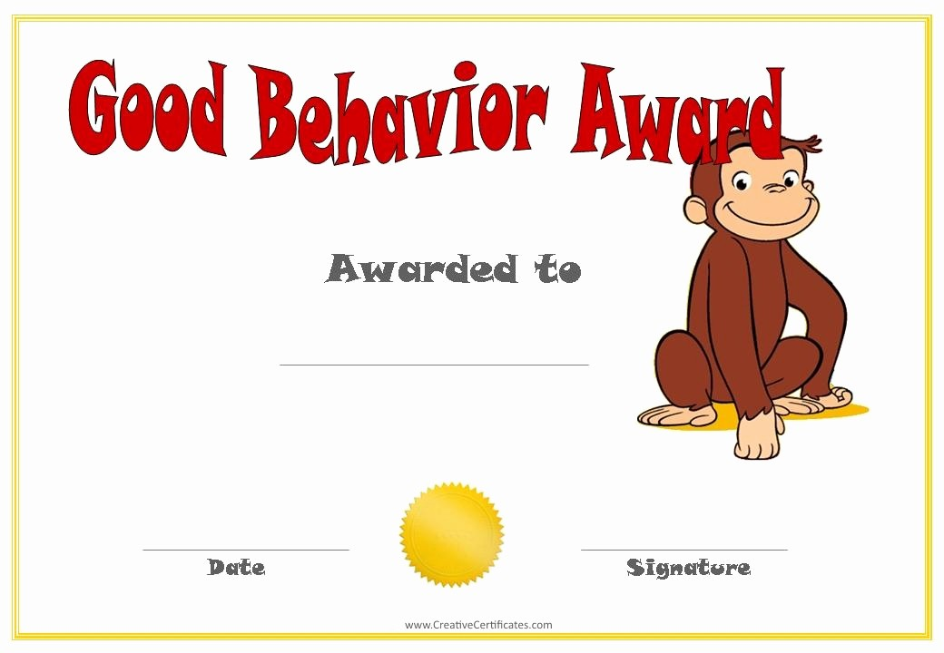 Awards and Certificates for Students Fresh Funnybusiness Printable Student Awards