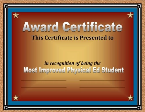 Awards and Certificates for Students Inspirational Certificate Of Achievement 50 Awards Recognizing Student