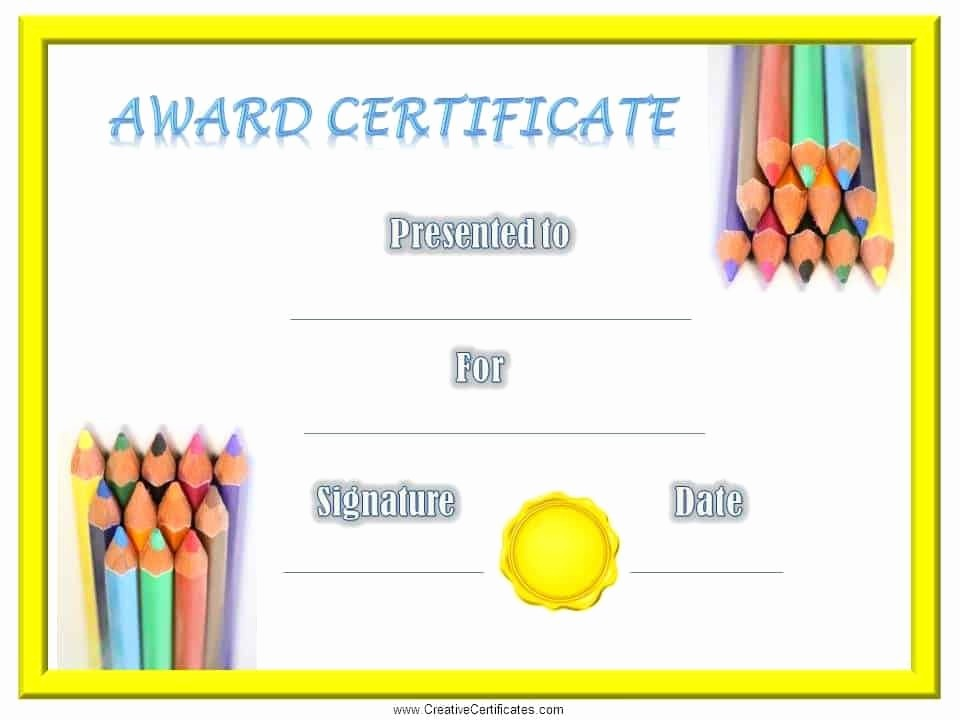 Awards and Certificates for Students Luxury Certificates for Kids Free and Customizable Instant