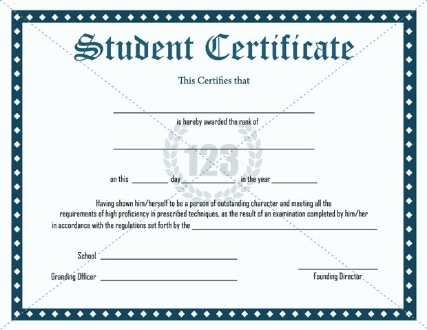 Awards and Certificates for Students Luxury Inspirational Student Certificate Template Free Download