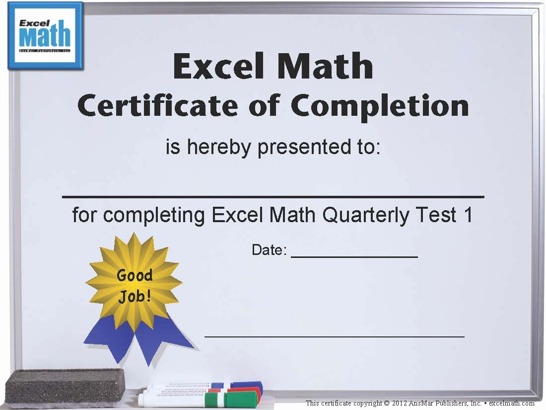 Awards and Certificates for Students Unique Excel Math Printable Math Certificates and Awards