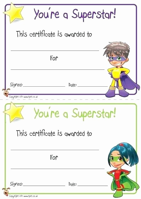 Awards Certificate Template Google Docs Awesome Award Certificate Template Primary School New Printable