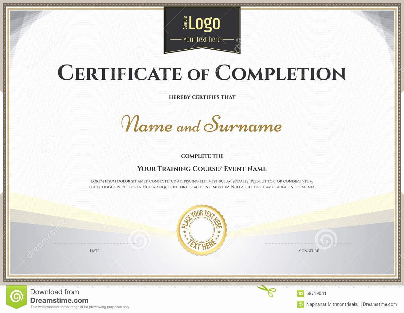 Awards Certificate Template Google Docs Best Of Certificate Certificate Pletion Template