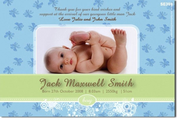 Baby Boy Announcements Free Templates Awesome Baby Boy Announcement Templates