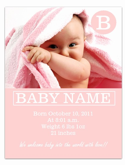 Baby Boy Announcements Free Templates Awesome Free Printable Birth Announcements Templates