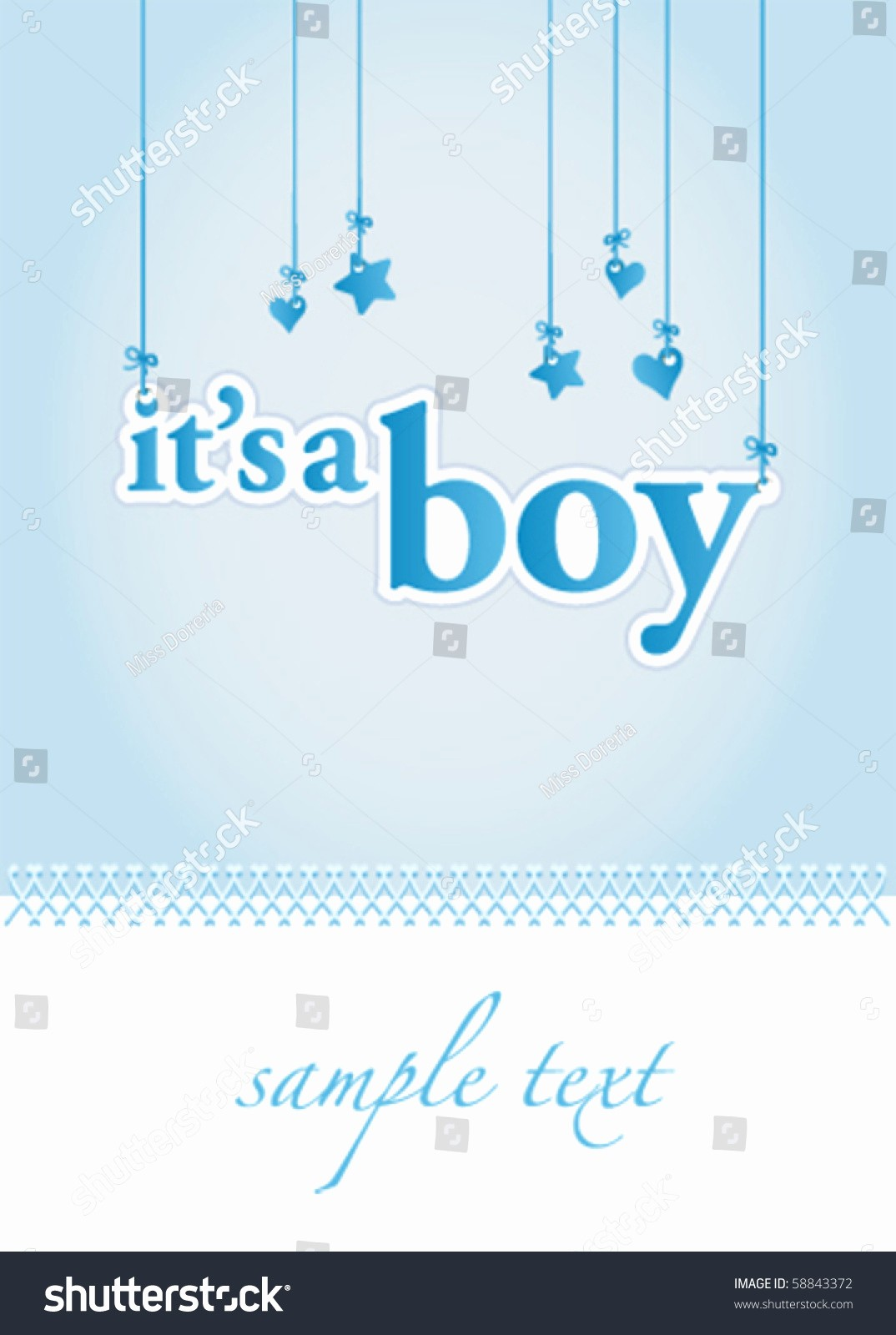 Baby Boy Announcements Free Templates Beautiful Baby Boy Arrival Announcement Card Perfect Stock Vector