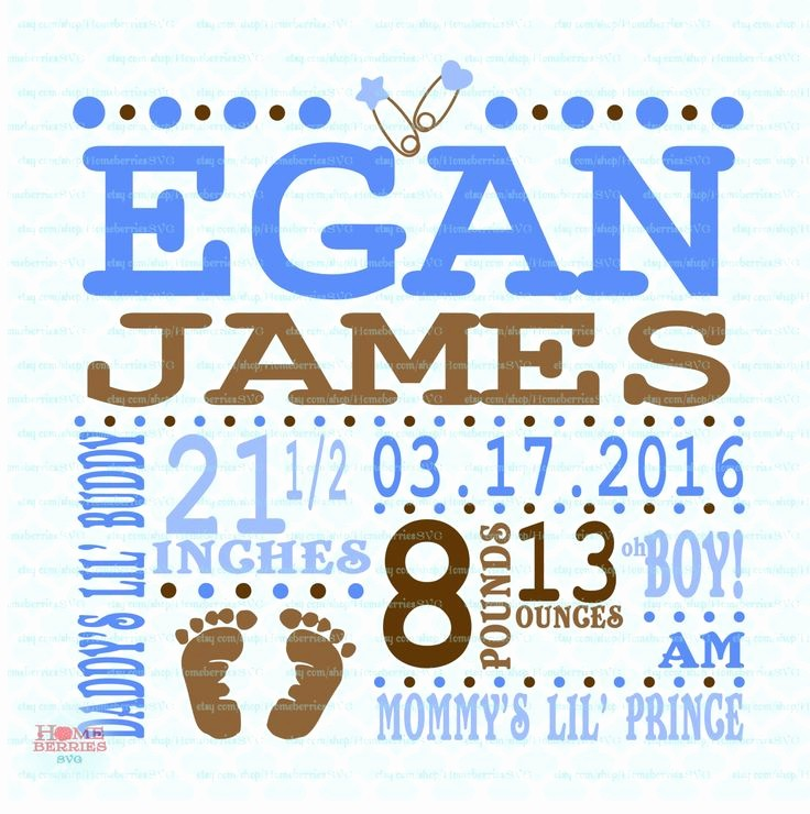 Baby Boy Announcements Free Templates Elegant Birth Announcement Template Svg Birth Svg Baby Svg
