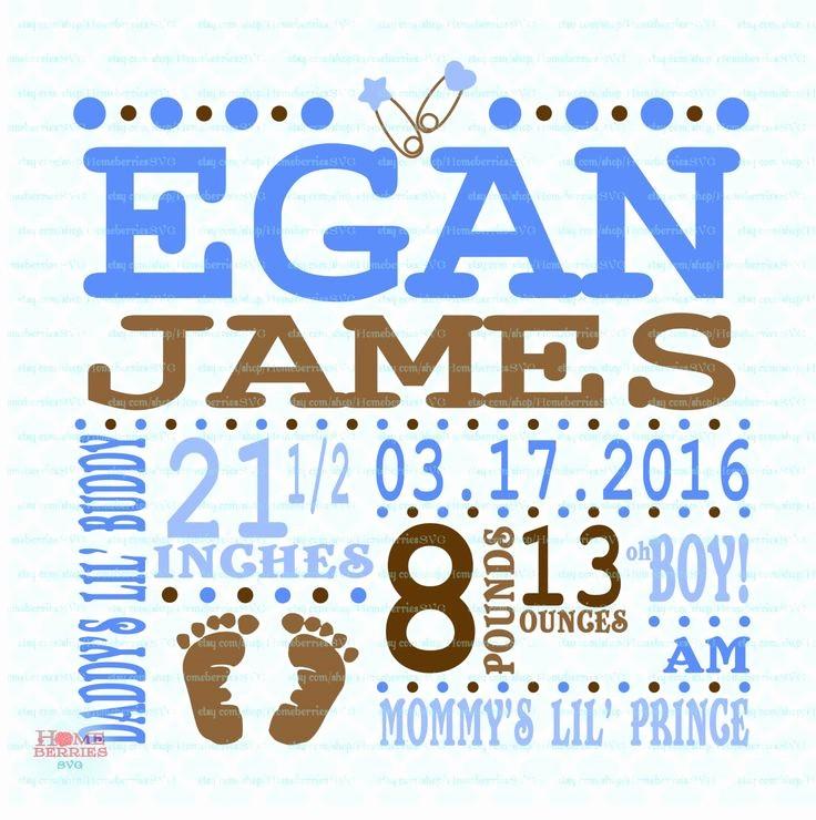 Baby Boy Announcements Free Templates Elegant Birth Announcement Template Svg Birth Svg Baby Svg
