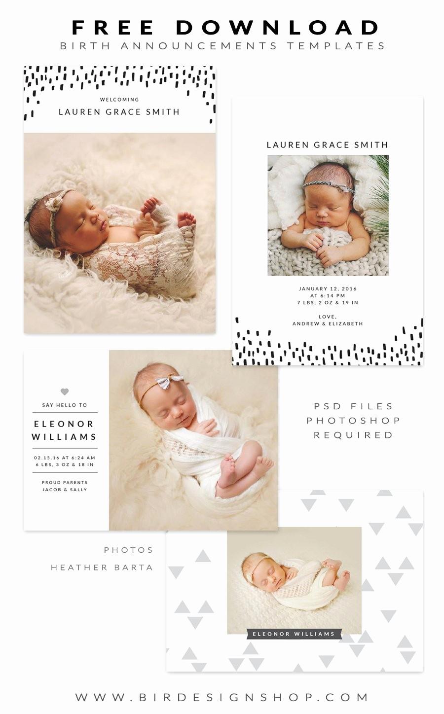 Baby Boy Announcements Free Templates Elegant Free Birth Announcements Templates January Freebie