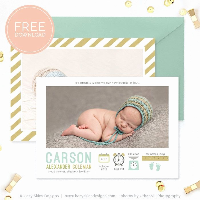 Baby Boy Announcements Free Templates Fresh 1000 Ideas About Birth Announcement On Pinterest