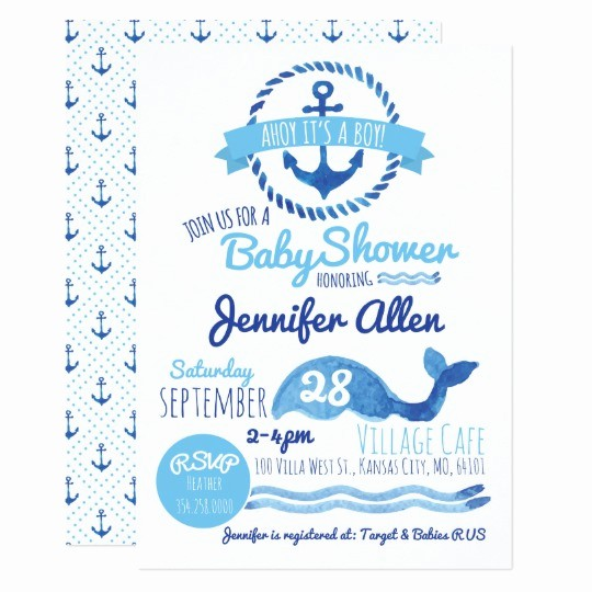 Baby Boy Announcements Free Templates Fresh Ahoy It S A Boy Baby Shower Invitation