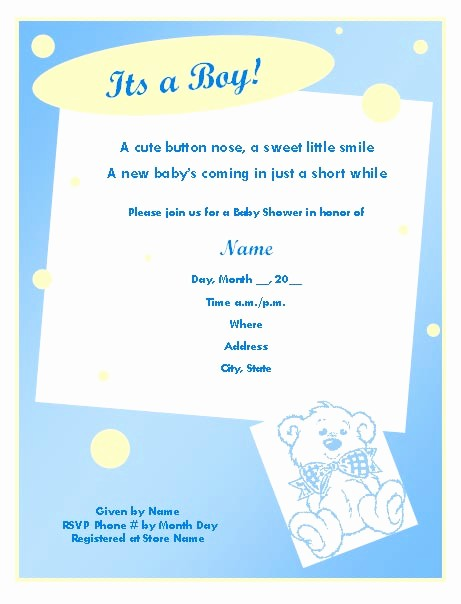 Baby Boy Announcements Free Templates Fresh Baby Boy Invitation Templates – orderecigsjuicefo