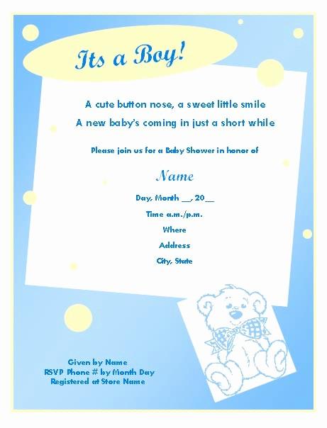 Baby Boy Announcements Free Templates Fresh Baby Boy Invitation Templates – orderecigsjuicefo