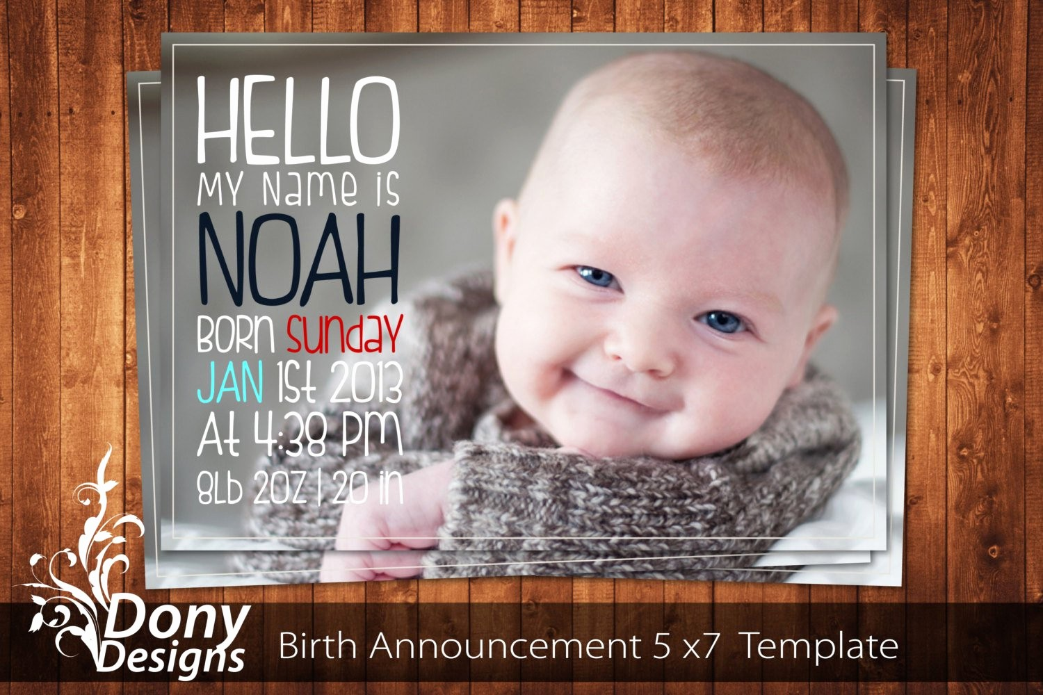 Baby Boy Announcements Free Templates Fresh Buy 1 Get 1 Free Birth Announcement Neutral Baby