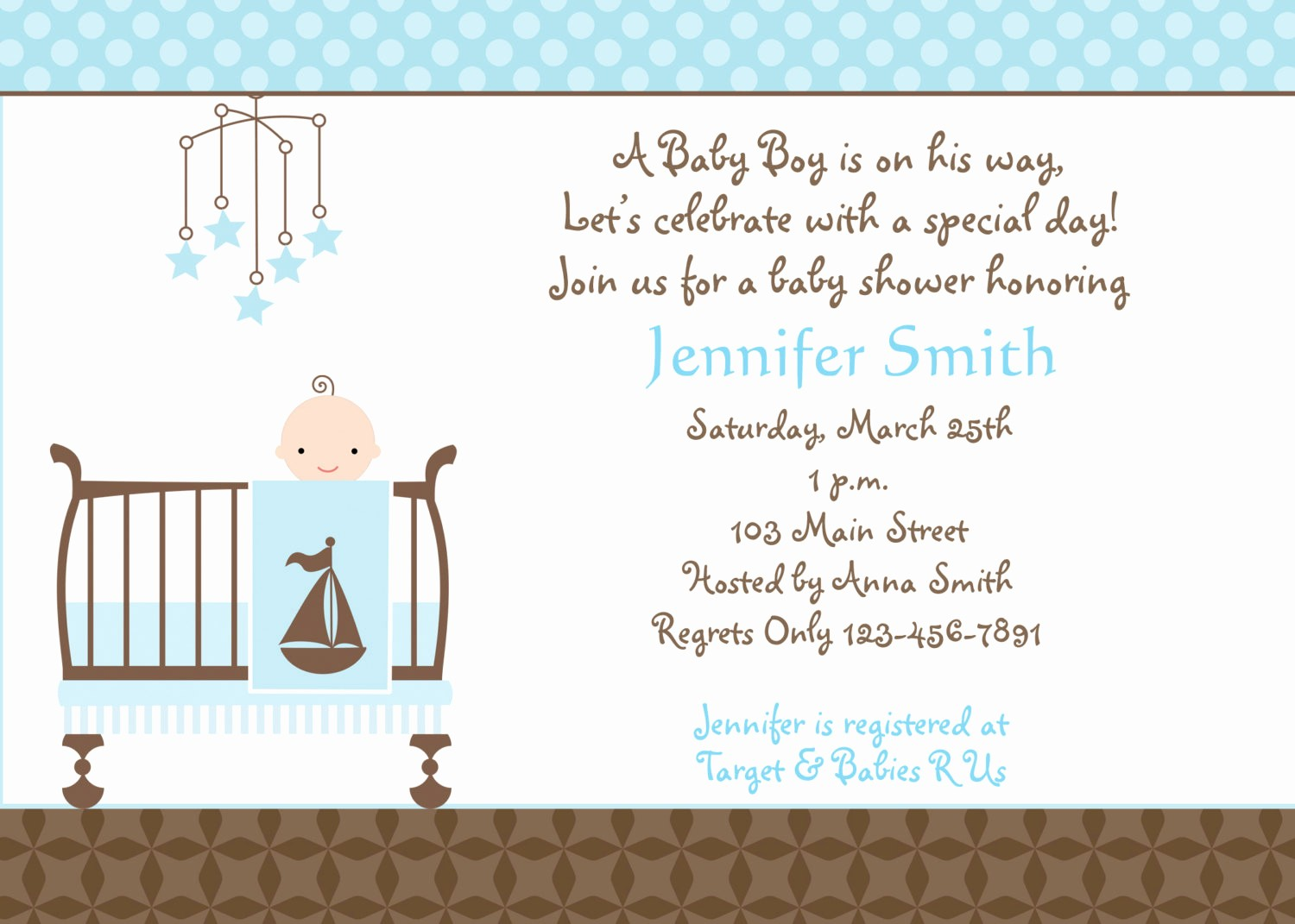 Baby Boy Announcements Free Templates Fresh Free Baby Boy Shower Invitations Templates Baby Boy