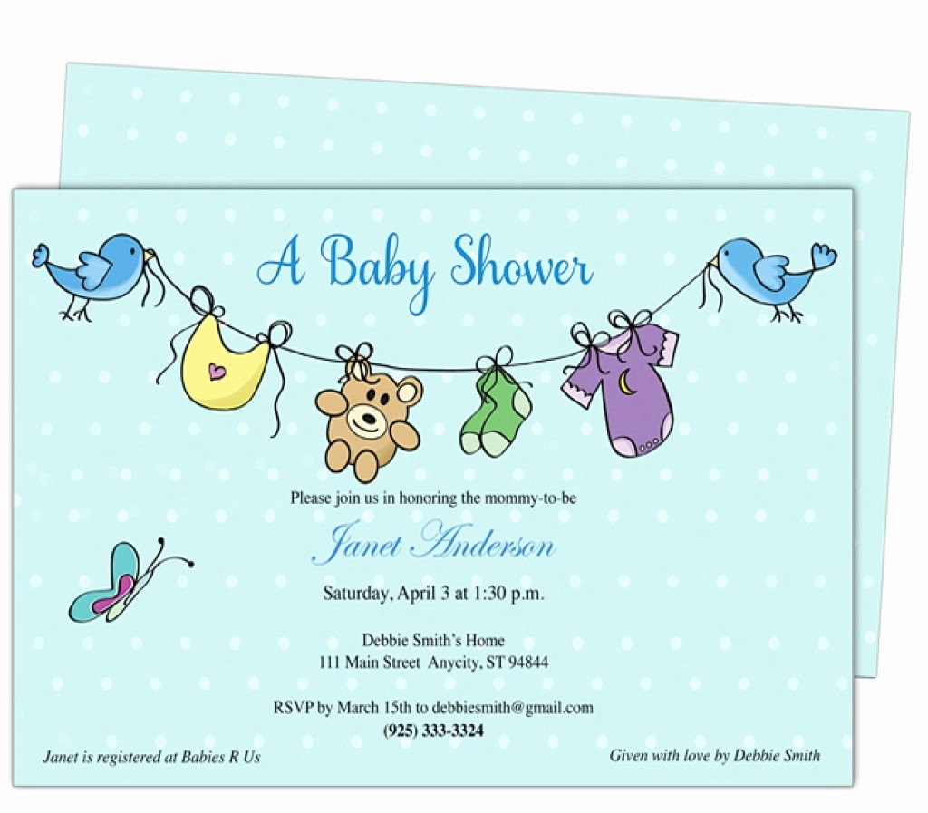 Baby Boy Announcements Free Templates Inspirational 024 Baby Shower Invitation Free Templates Template Ideas