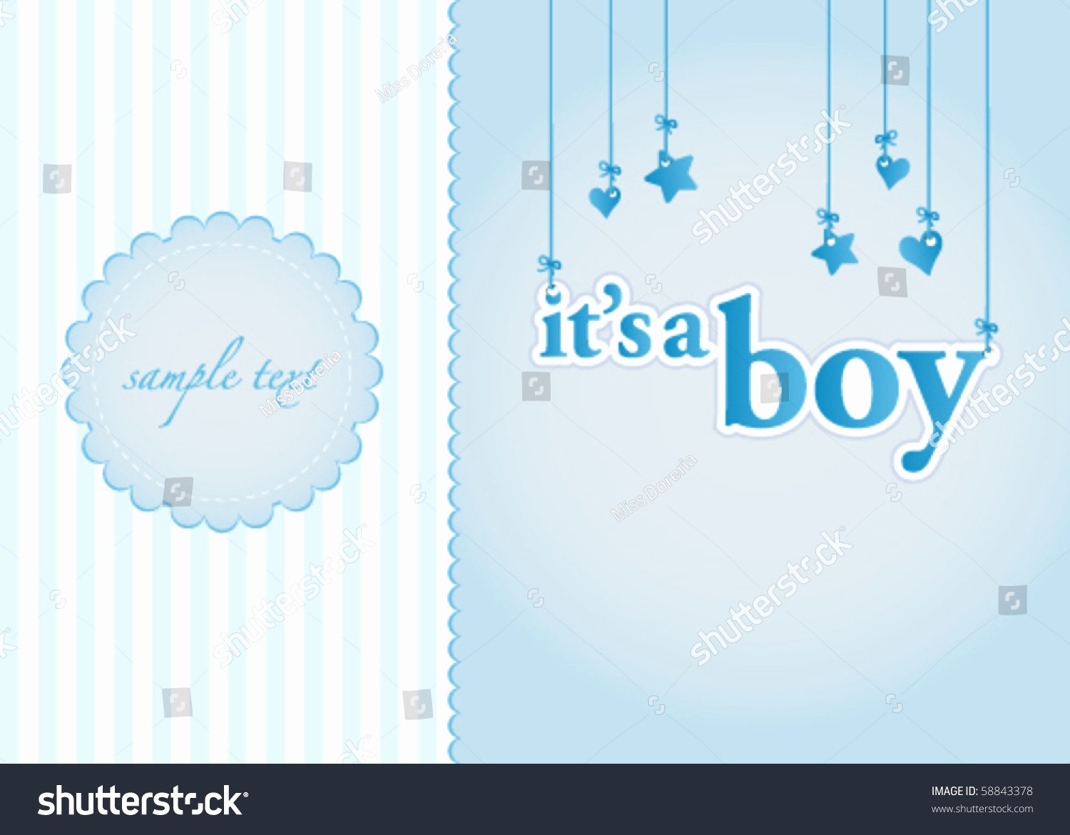 Baby Boy Announcements Free Templates Luxury Baby Boy Arrival Announcement Card Perfect Stock Vector