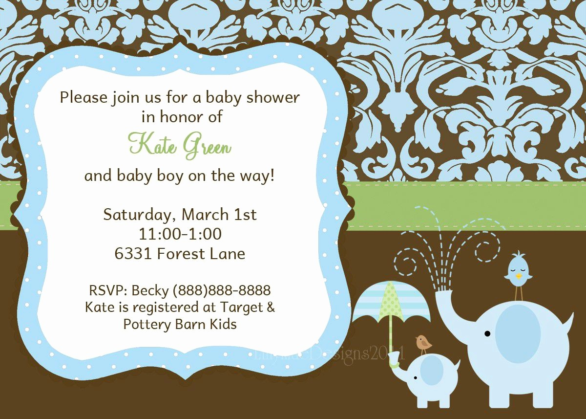 Baby Boy Announcements Free Templates New Baby Shower Baby Boy Shower Invitations Card