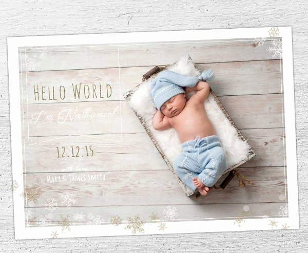 Baby Boy Birth Announcement Template Awesome 9 Birth Announcement Templates Printable Psd Ai format