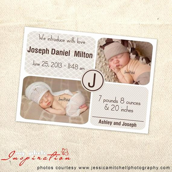 Baby Boy Birth Announcement Template Awesome Baby Birth Announcement Template Boy Birth by