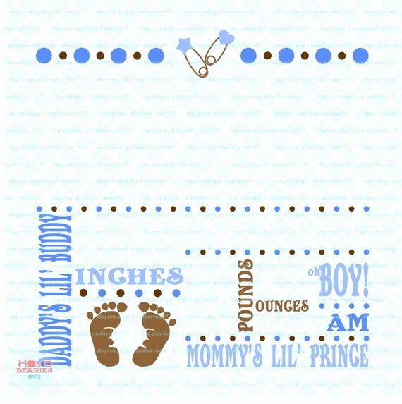 Baby Boy Birth Announcement Template Awesome Birth Announcement Template Svg Birth Svg Baby Svg