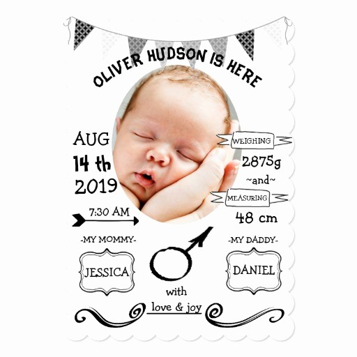 Baby Boy Birth Announcement Template Beautiful Cute Baby Boy Birth Announcement Template
