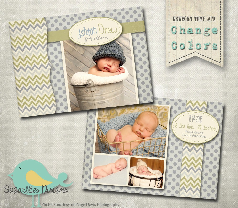Baby Boy Birth Announcement Template Fresh Baby Birth Announcement Photoshop Template Baby Boy