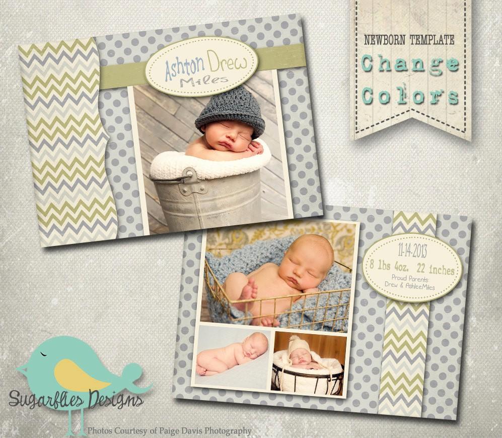 Baby Boy Birth Announcement Template Fresh Baby Birth Announcement Photoshop Template Baby Boy