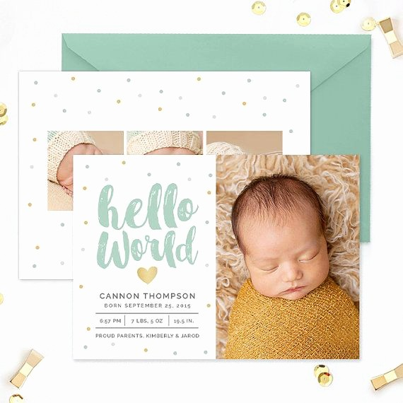 Baby Boy Birth Announcement Template Inspirational Birth Announcement Template Birth Announcement Template