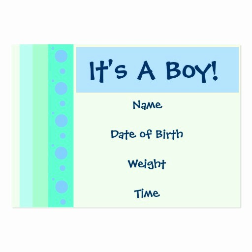 Baby Boy Birth Announcement Template Lovely Baby Boy Birth Announcement Card