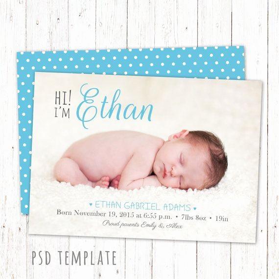 Baby Boy Birth Announcement Template Luxury 12 Best Custom Birth Announcements Images On Pinterest