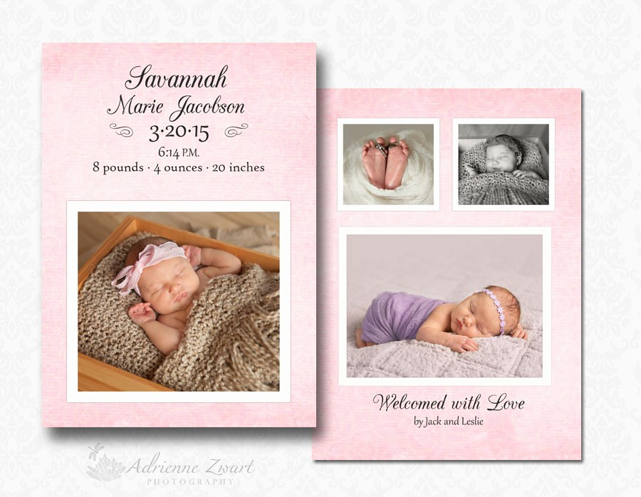 Baby Girl Birth Announcements Template Awesome Free Birth Announcement Templates for Shop