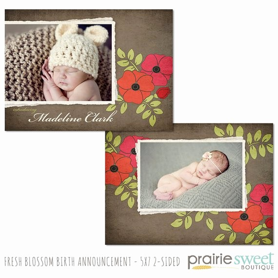 Baby Girl Birth Announcements Template Beautiful Baby Girl Birth Announcement Shop Template for