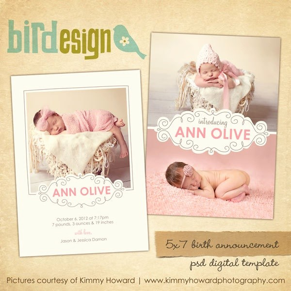 Baby Girl Birth Announcements Template Beautiful the 25 Best Birth Announcement Template Ideas On