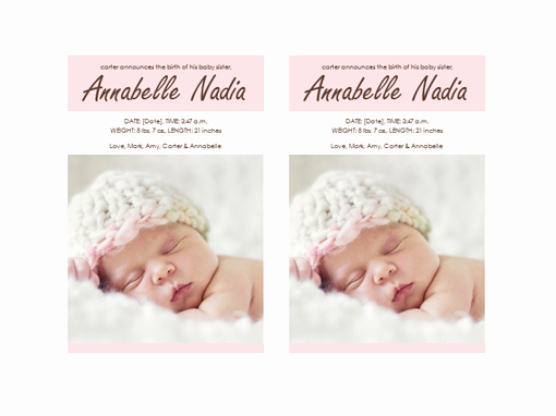 Baby Girl Birth Announcements Template Best Of Baby Girl Birth Announcement Templates Fice
