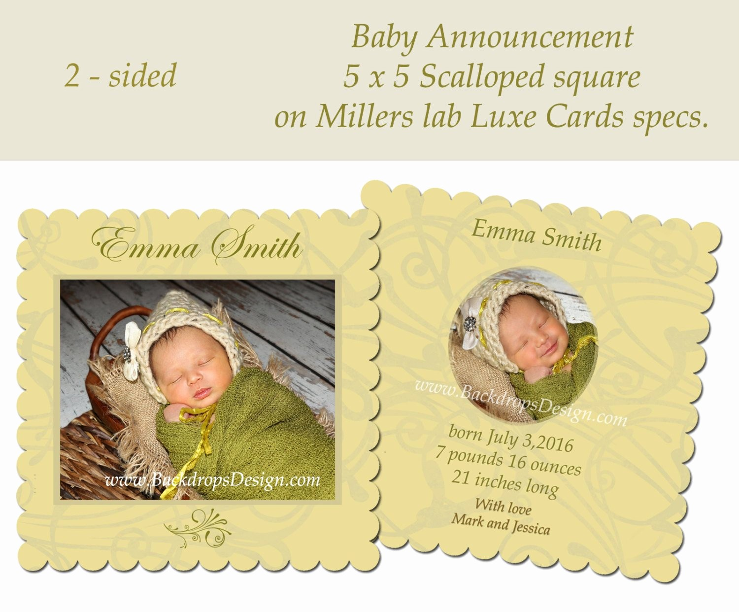 Baby Girl Birth Announcements Template Fresh Baby Boy Girl Birth Announcements Template Luxe by