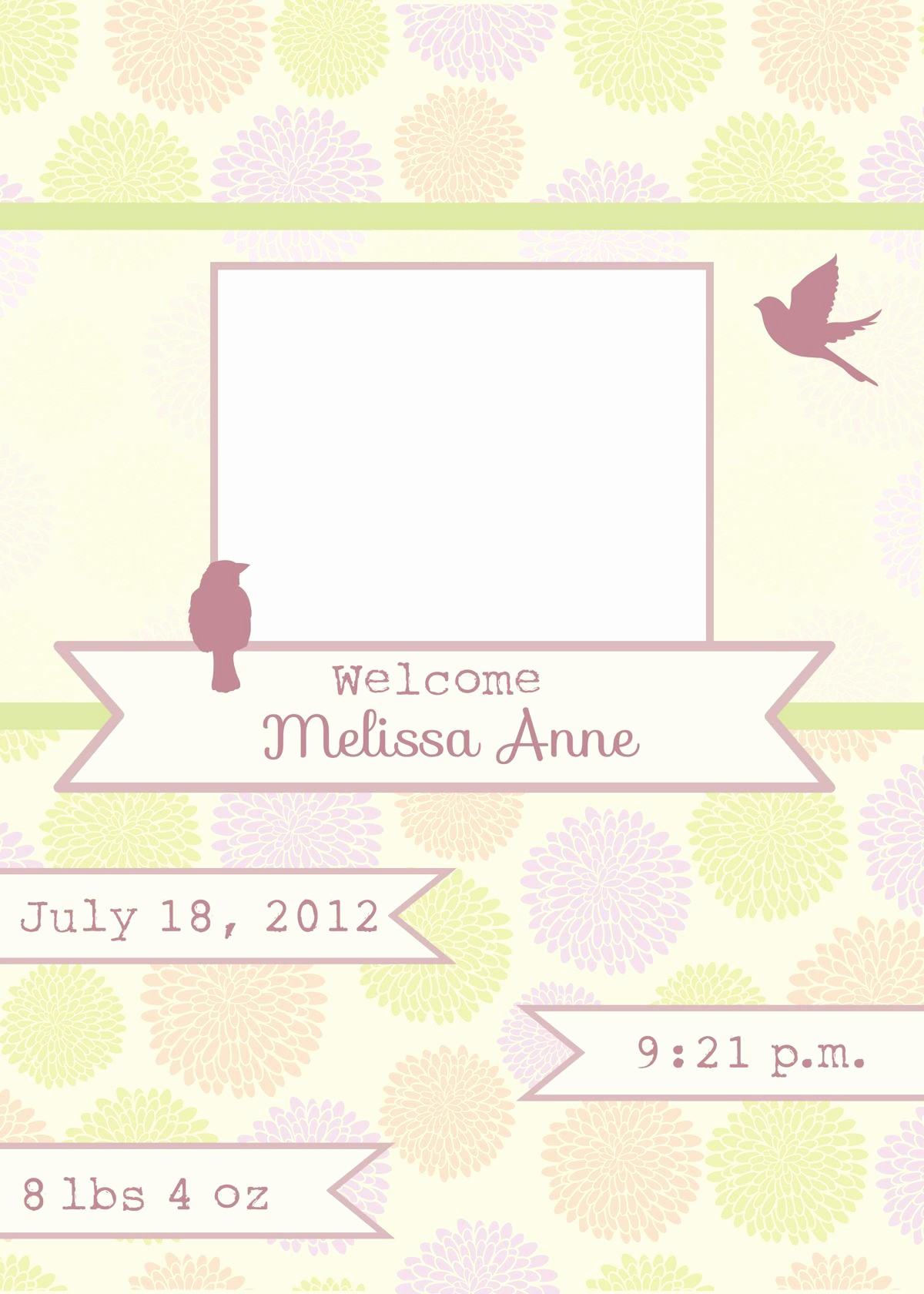 Baby Girl Birth Announcements Template Inspirational Amazingly Creative Birth Announcement Templates
