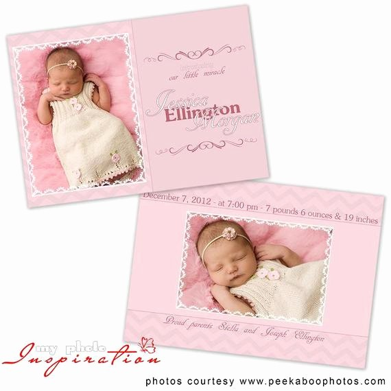 Baby Girl Birth Announcements Template Inspirational Baby Birth Announcement Template Girl Birth by
