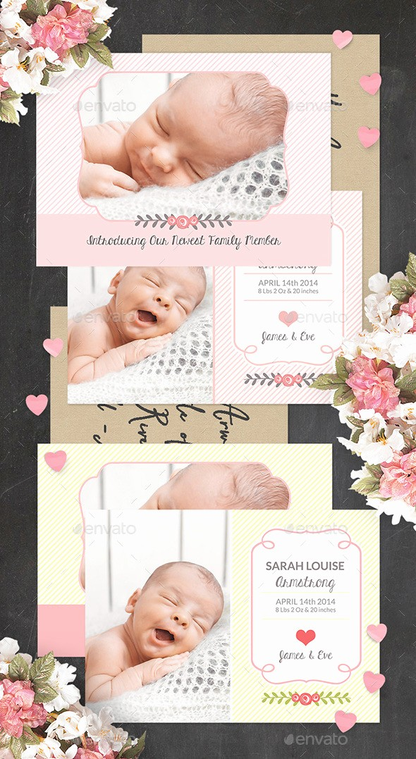 Baby Girl Birth Announcements Template Inspirational Birth Announcement Template Baby Girl by