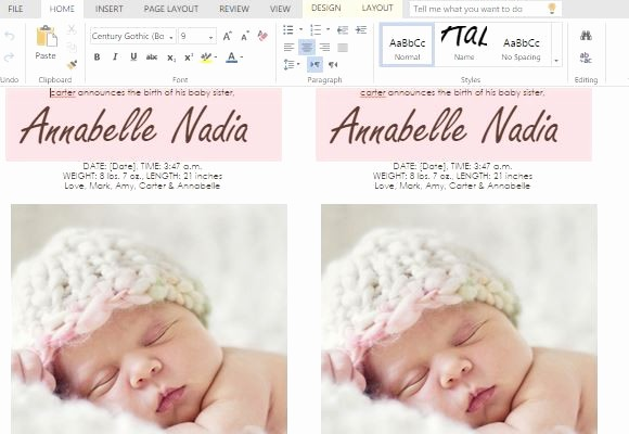 Baby Girl Birth Announcements Template Luxury How to Make Child Birth Announcement Cards In Word