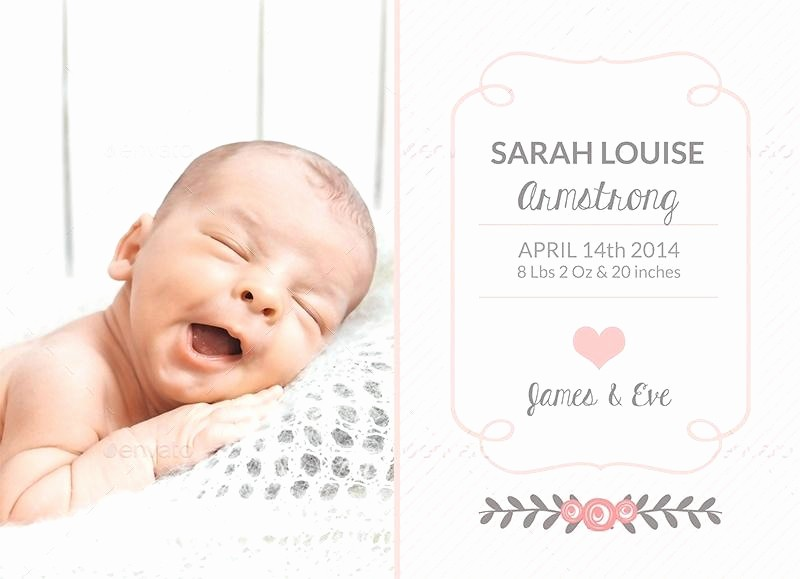 Baby Girl Birth Announcements Template New Free Powerpoint Template Baby Boy Cute Little Elephant