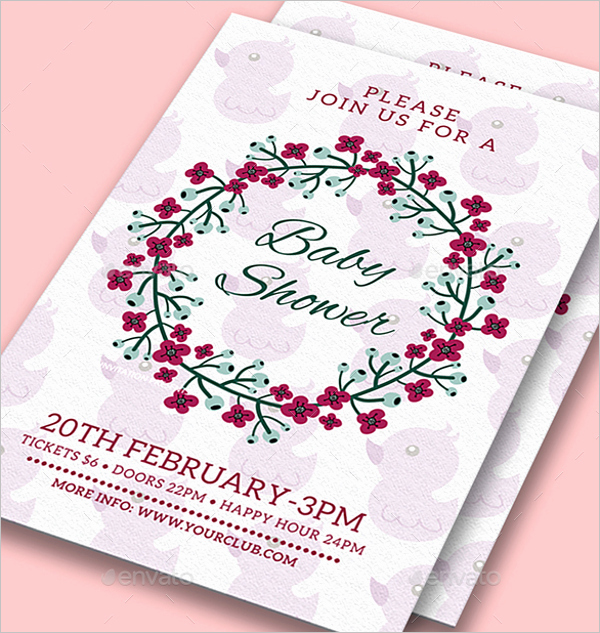 Baby Shower Flyer Template Word Awesome 26 Baby Shower Flyer Templates Free Psd Word Sample Ideas